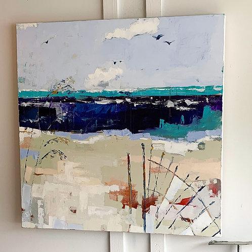 """Salt Therapy"" 4'x4' original painting"