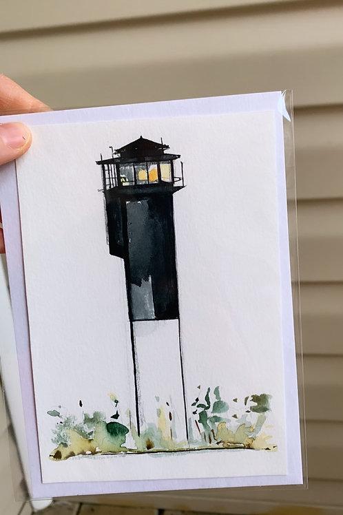 Sullivan's Island Lighthouse Mini Original (fits to a 5x7 floating frame)