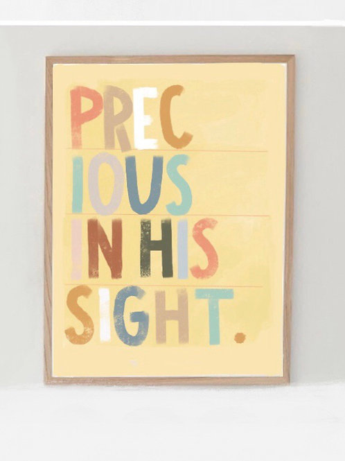 Precious in His Sight original print 8x10