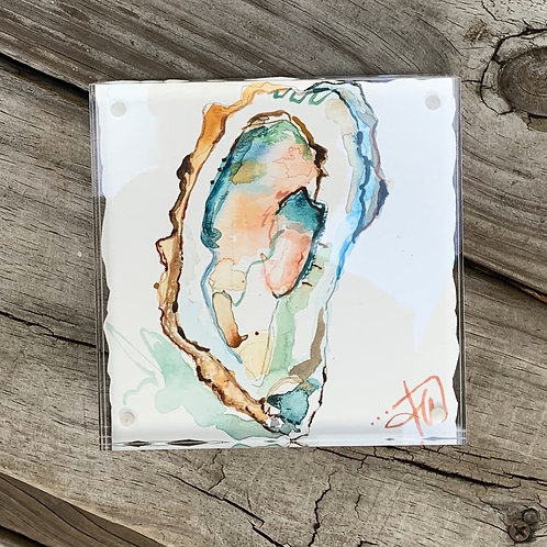 """""""Folly Tide"""" framed 5x5 original painting"""