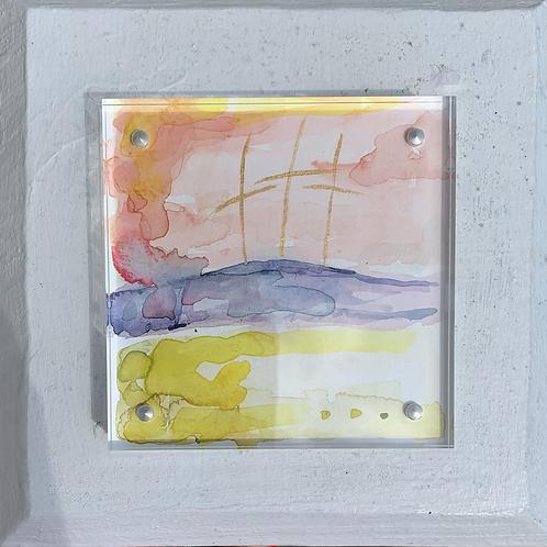 """4x4 """"Easter Morning"""" framed mini-original"""