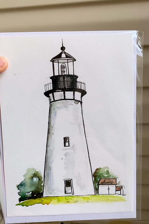 Amelia Island Lighthouse Mini Original (fits to 5x7 floating frame)
