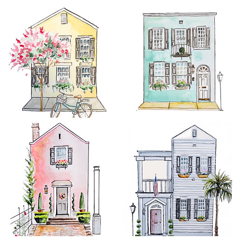 Charleston Fancy print set of 4 (8x10)