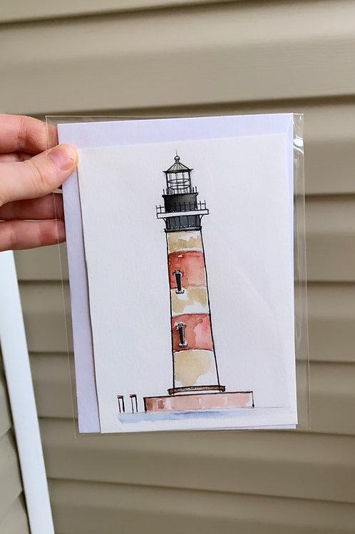 Morris Island Lighthouse Original Mini (fits to 5x7 floating or acrylic frame)