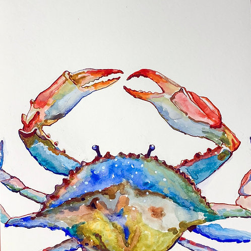 Sea Life Collection Crab 5x7 matted or 8x10 unmatted print