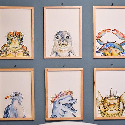 Sea Life 8x10 Print Set