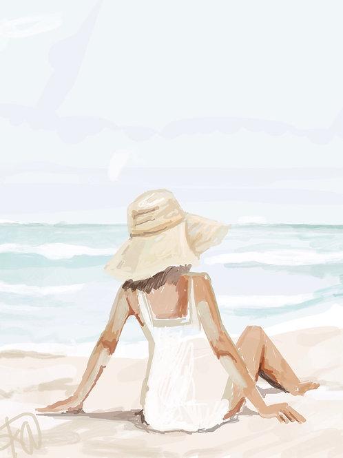 """""""Beach Day"""" 8x10 print"""