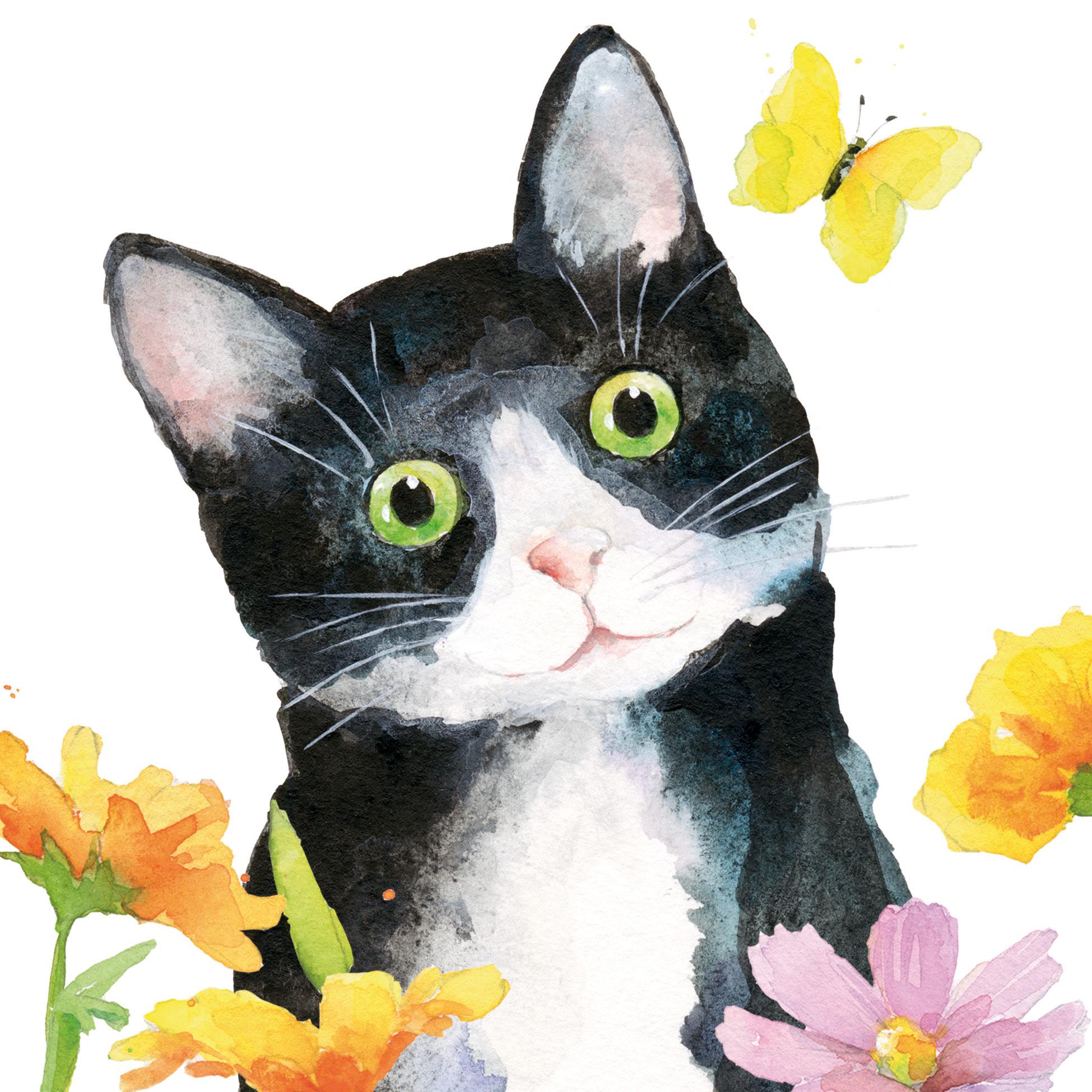 Katze_+_Blüten