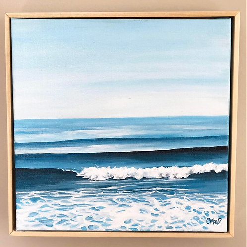 "Blue waves series 03 - 10"" x 10"""