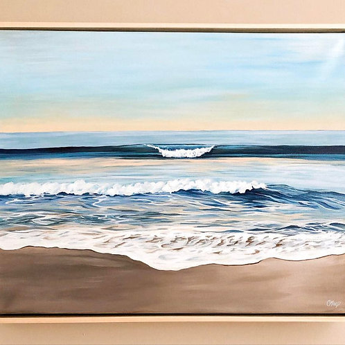 "Blue Waves Series 09 - 16"" x 20"" framed"
