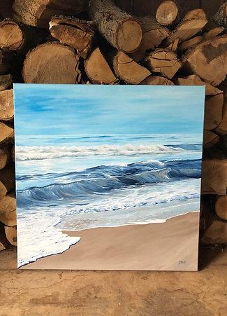 "Blue waves series 04 - 24"" x 24"""