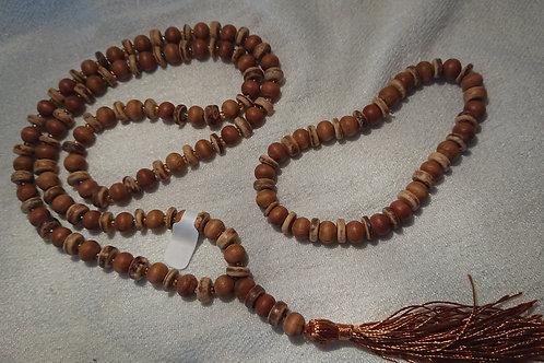 Holz Mala mit Armband -  Gebetskette mit 108 Perlen