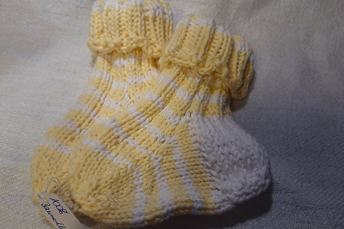 Babysocken in gelb-weis