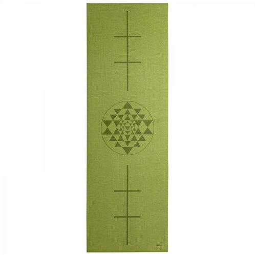 Design Yogamatte YANTRA in oliv