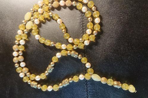 Grüne Herzchakra Mala -  Gebetskette mit 108 Perlen