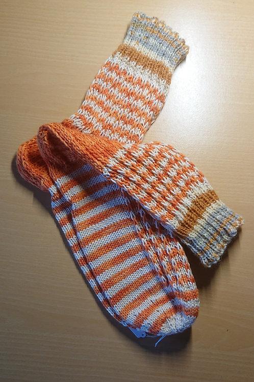 Organge Beige Socken in Größe 42 / 43