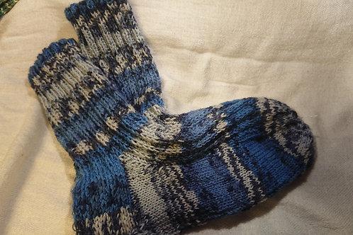 Socken in Blau-Grau Gr. 38 / 39