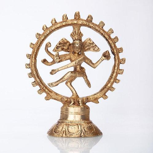 Nataraj Statue, Messing, ca. 14 cm