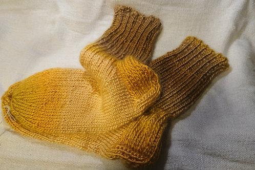 Kuschelsocken in Gelb Gr. 34 / 35