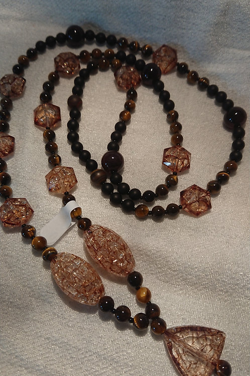 Braune Mala -  Gebetskette mit 108 Perlen