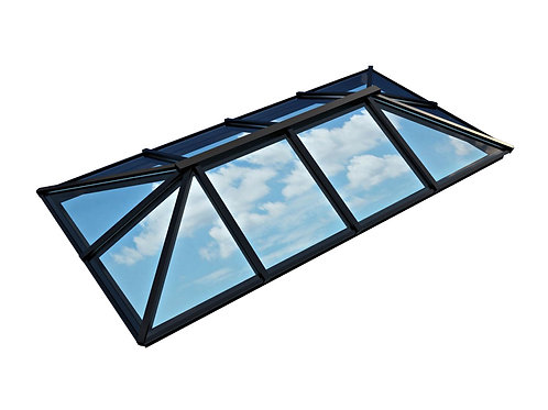 Atlas Active Neutral Double Glazed Traditional Roof Lantern – GREY/WHITE