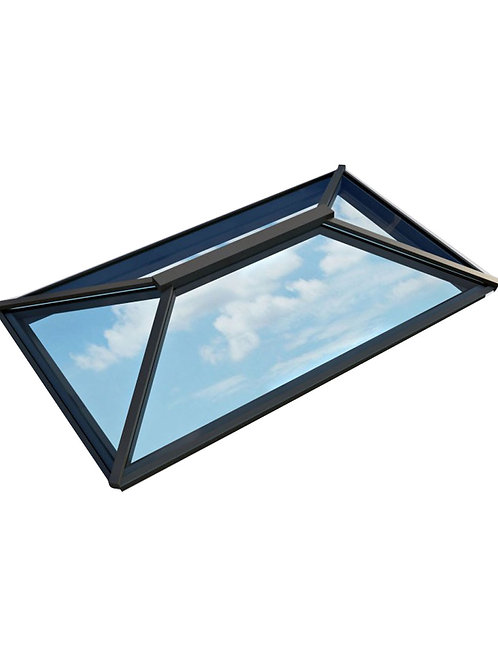 Atlas Contemporary Roof Lantern Window Active Neutral Double Glazed-Black