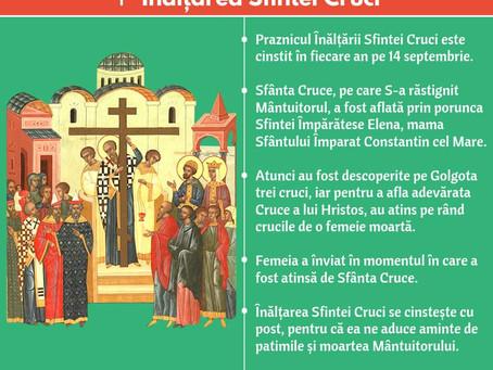 Sarbatoarea Inaltarii Sfintei Cruci 14 septembrie