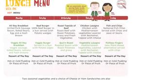 New School Meal Menu