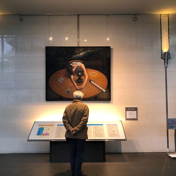 千里朝日阪急ビル 展示 風景 作品 卓上の宇宙論