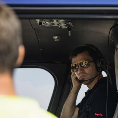 Briefing vor dem Rundflug