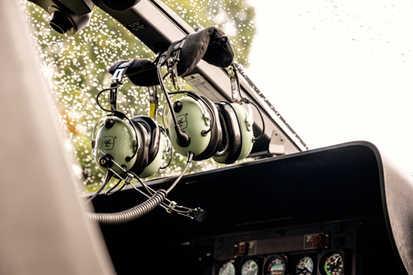 Headphones in AIRBUS EC 135