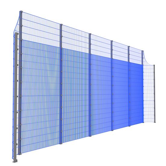 Модуль фронтальный ТРЕША™ с закруглёнными углами (L-11 м. H-5/4 м.)