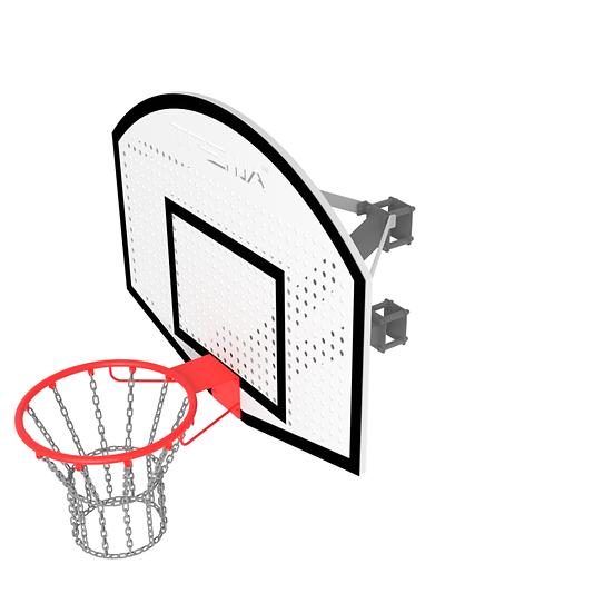 Щит стритбольный ТРЕША™ 1200х900 мм. с кронштейном на столб (вылет 0,5 м)
