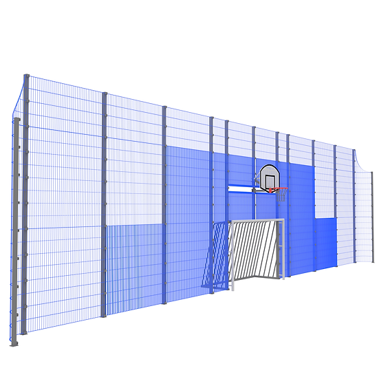 Мультиспортивная фронтальная стенка ТРЕША™ (18 м. H-5/4 м)