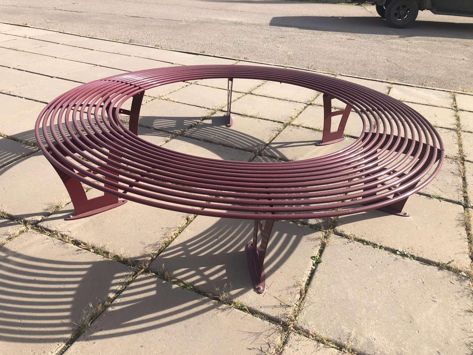 Скамейка круглая