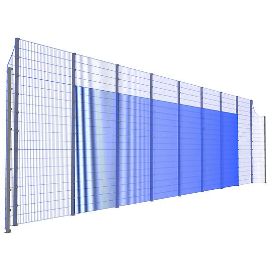 Модуль фронтальный ТРЕША™ с закруглёнными углами (L-18 м. H-5/4 м.)