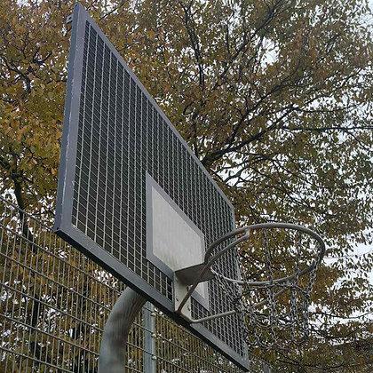 Щит баскетбольный 1800х1050 мм антивандальный в комплекте с корзина и сеткой