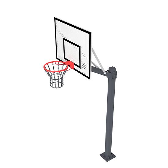 Щит баскетбольный ТРЕША™ 1200х900 мм. на регулируемой стойке (вылет 1 м)