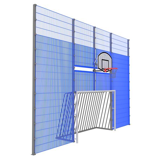Мультиспортивная фронтальная стенка ТРЕША™ (7 м)