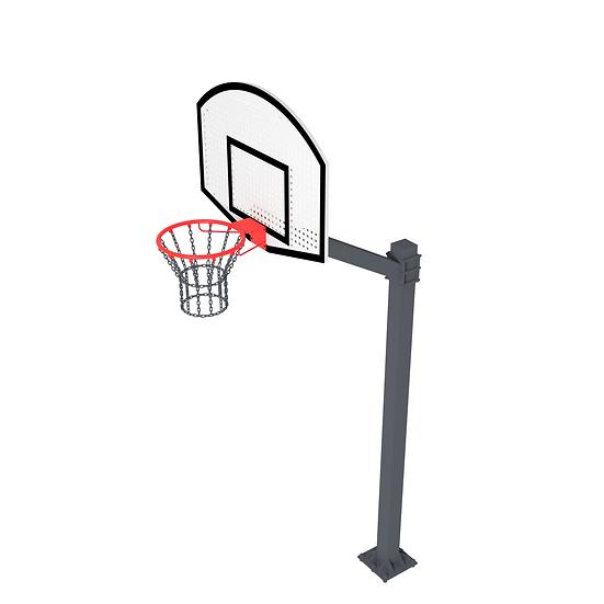 Щит стритбольный ТРЕША™ 1200х900 мм. на регулируемой стойке (вылет 1 м)