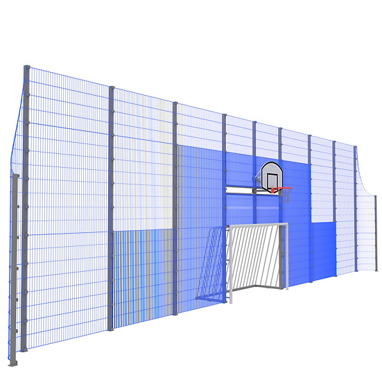 Мультиспортивная фронтальная стенка ТРЕША™ (16 м. H-5/3 м)
