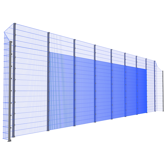 Модуль фронтальный ТРЕША™ с острыми углами (L-18 м. H-5/4 м.)