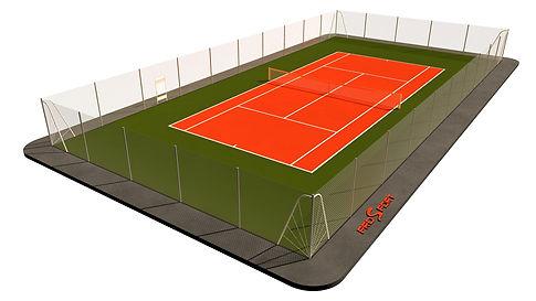 Проект теннисного корта 18х36 м
