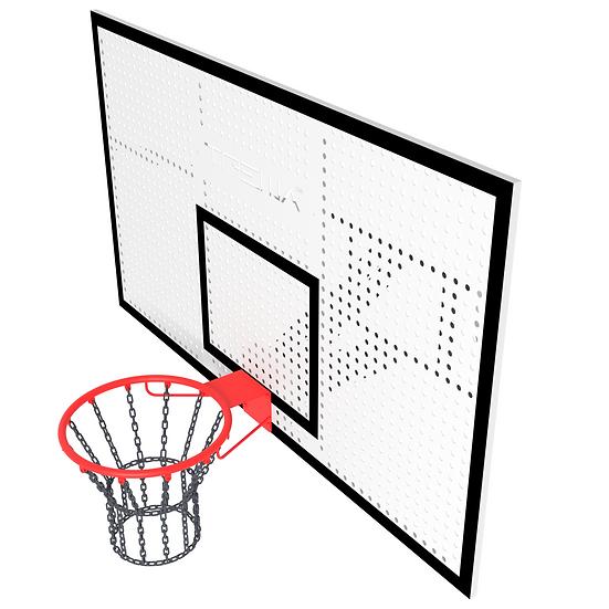 Щит баскетбольный ТРЕША™ 1800х1050 мм с кронштейном для стены (вылет 0,5 м