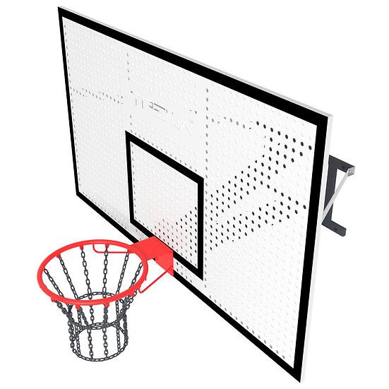 Щит баскетбольный ТРЕША™ 1800х1050 мм с кронштейном для стены (вылет 0,8 м)