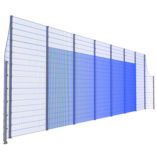 Фронтальная ударостойкая стенка ТРЕША™ с закруглёнными углами (L-16 м. H-5/3 м.)