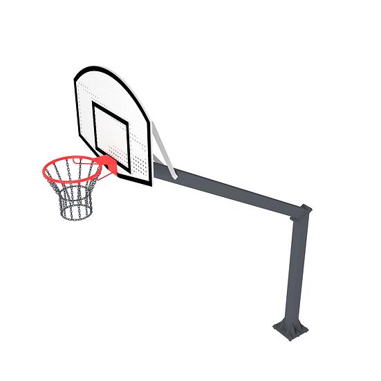 Щит стритбольный ТРЕША™ 1200х900 мм. на стойке (вылет 2,25 м)
