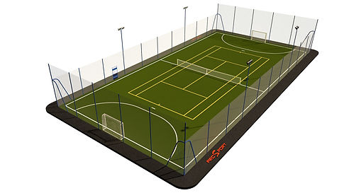 Строительство теннисных кортов и спортивных площадок