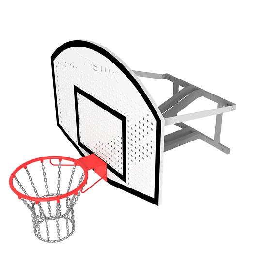 Щит стритбольный ТРЕША™ 1200х900 мм. с кронштейном для стены (вылет 0,8 м)