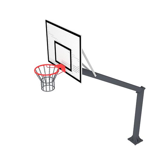 Щит баскетбольный ТРЕША™ 1200х900 мм. на стойке (вылет 2,25 м)